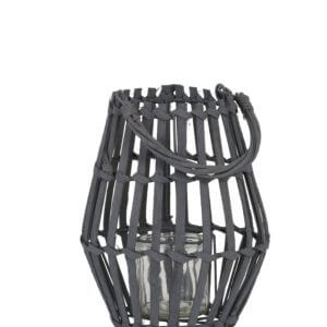 Dark grey hurricane candle holder - small