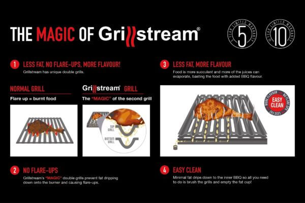 Grillstream Stainless Steel Gas BBQ - 3 Burner