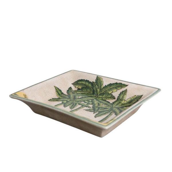 Ceramic palm tree dish