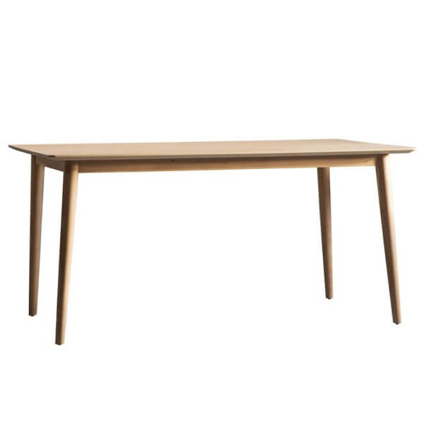 The Modern light oak 6-seat dining table (1.6m)