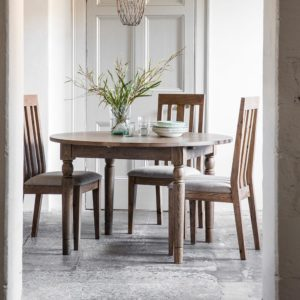 The Rural Round Ext Oak Dining Table – Smokey Oak (1.2m)