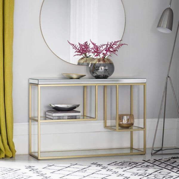 The Designer Console Table in Champagne