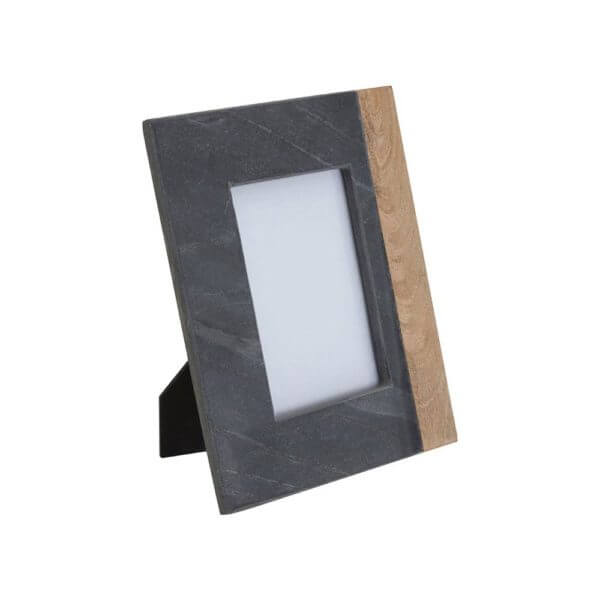 Kata Photo Frame (4In X 6In) Slate Mango Wood