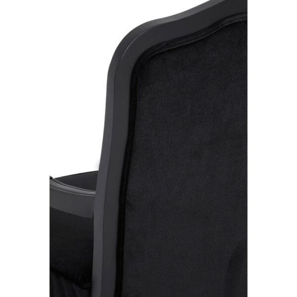 The Rocaille Chair and Footstool (Black Velvet)