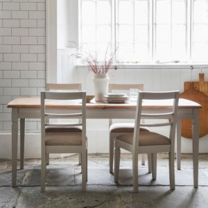 The Atlantic Extending Dining Table Set Neutral (1.86m)
