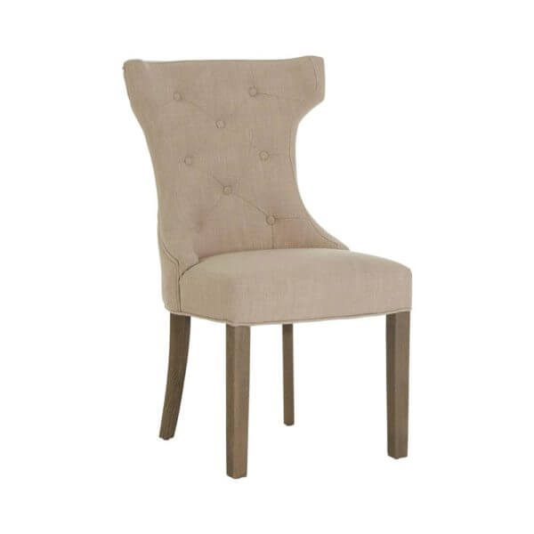 Hampstead Dining Chair Beige Silver Handle on Back