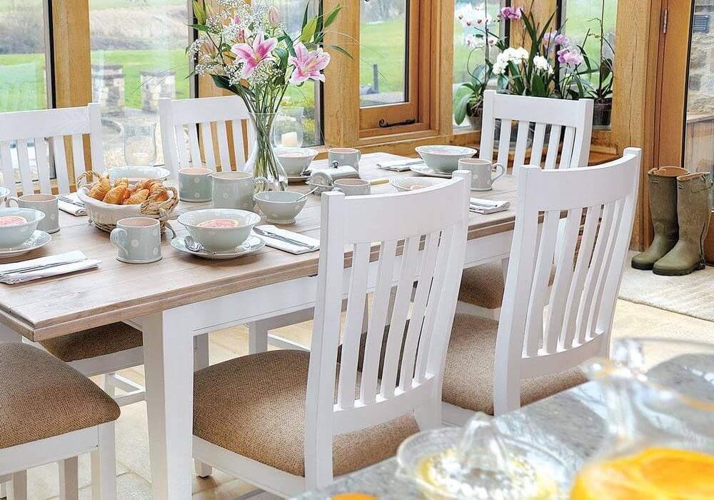 Classic Extending Dining Set with 6 Classic Chairs (1.5m)
