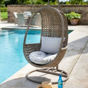 2019 Hartman Heritage Outdoor Hanging Chair With Cushion - Beech/Dove
