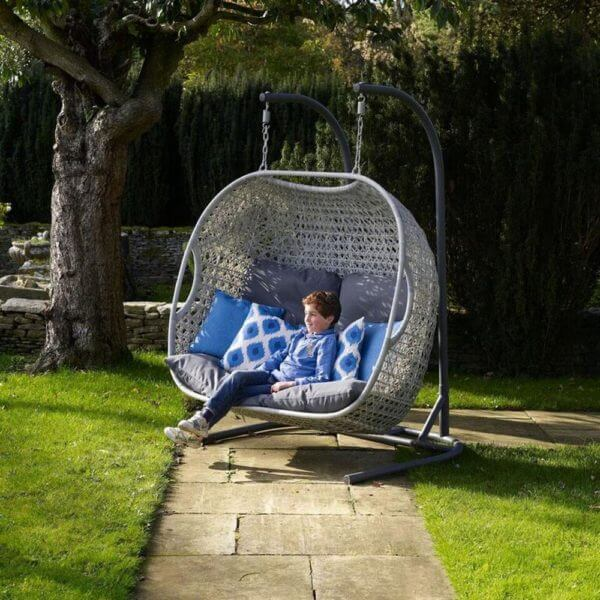 2019 Bramblecrest Monterey Double Hanging Cocoon Chair With Cushions