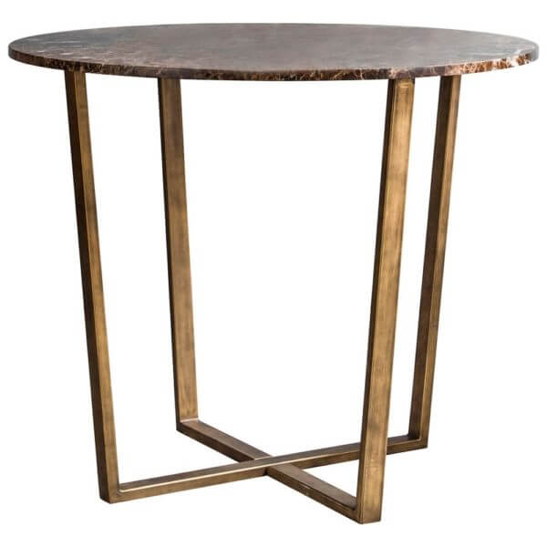 The Brown Marble Side Table
