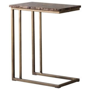 The Brown Marble Alternative Side Table