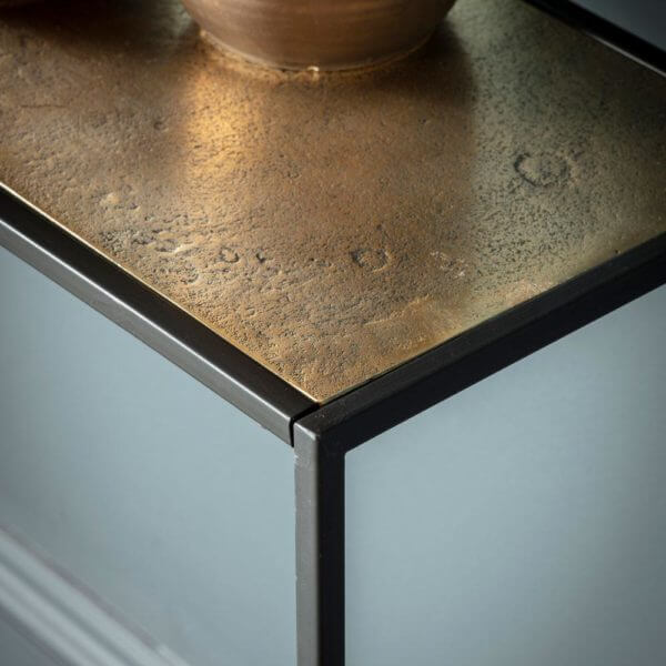 The Metal Frame Console Table Antique Gold