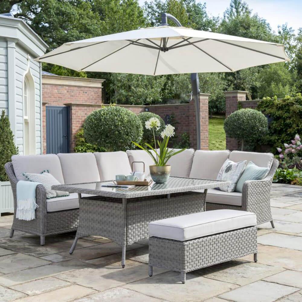 2020 Kettler Charlbury Casual Garden Dining Corner Sofa Set